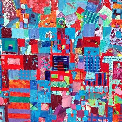 Cities Painting - Complexity In The City by Robert Sparkes