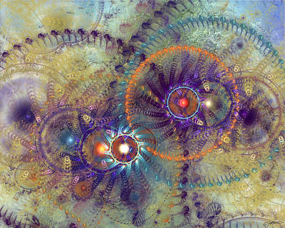 Complexity Digital Art - Complexity Is Worrisome by Casey Kotas
