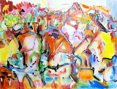 Painting - Complicated Landscape by Rojo Chispas