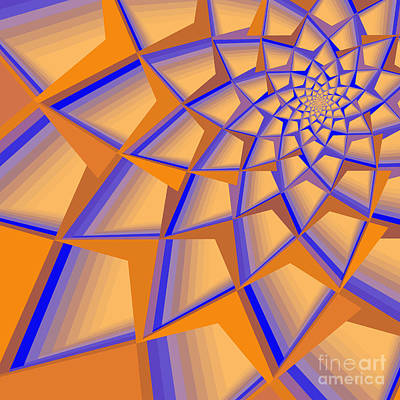 Digital Art - Complimentary Spirals by Mary Machare