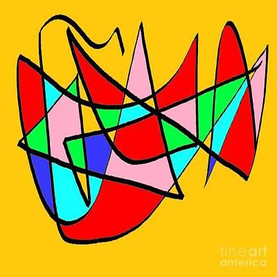 Eliso Digital Art - Composicion Multicolor by Eliso Silva