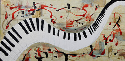 Painting - Let The Music Play On by Stephanie Agliano