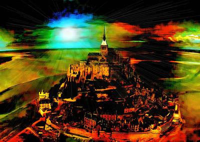 Digital Art - Composite Mont St Michel by Mario Carini