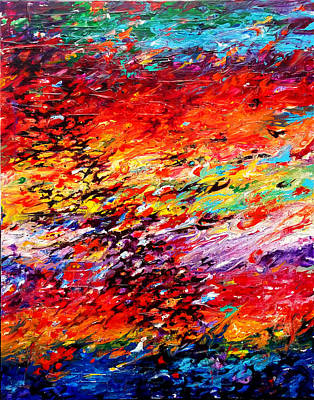 Painting - Composition # 6. Series Abstract Sunsets by Helen Kagan
