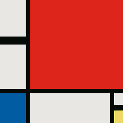 Digital Art - Composition II In Red, Blue, And Yellow - Digital Version by War Is Hell Store