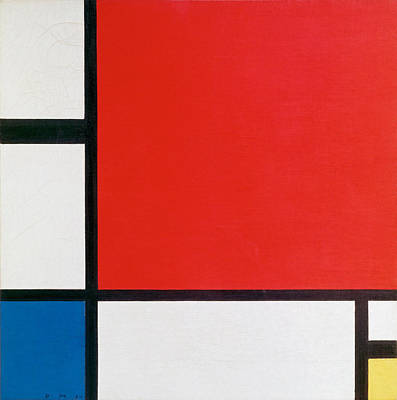 Composition II In Red, Blue, And Yellow - Piet Mondrian Art Print by War Is Hell Store