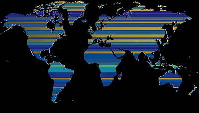 Composition Digital Art - Composition Lines Of World Map by Alberto RuiZ