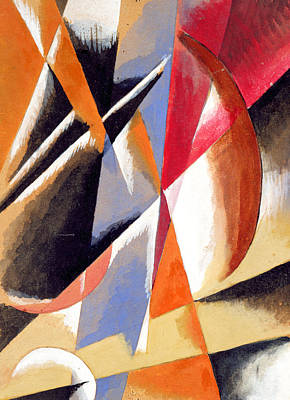 Composition Art Print by Lyubov Sergeevna Popova