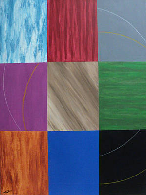 Painting - Composition Nine Plus Two by Angelo Thomas