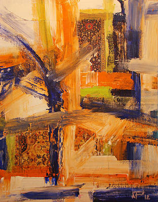 Painting - Composition Orientale No 5 by Walter Fahmy