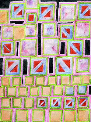 Composition Out Of Three Kind Of Squares Art Print