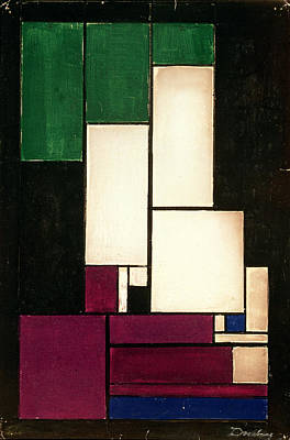 Rectangles Painting - Composition by Theo van Doesburg