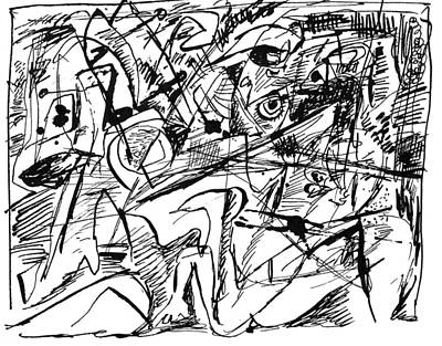 Drawing - Composition Three by Vladimir Kozma