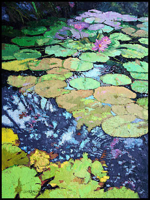 Painting - Composition With Lily Pads by John Lautermilch