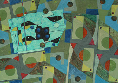 Composition Xxv 07 Art Print by Maria Parmo