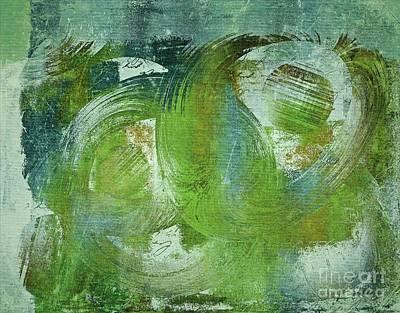 Composix - V55a - Green Art Print