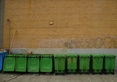 Streetshot Photograph - Compost Bins by Erik Burg
