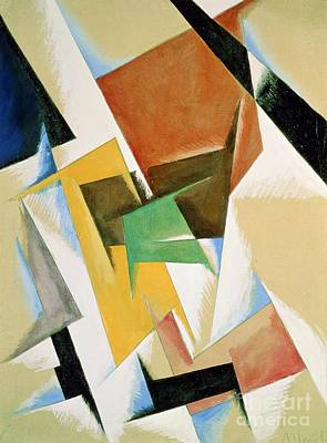 Abstract Shapes Painting - Compostion 1921 by Lyubov Sergeevna Popova