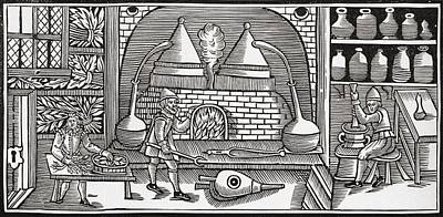 Alchemist Drawing - Compounding A Balsam. From The Book by Vintage Design Pics