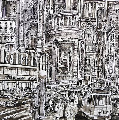 Compression 2 Art Print by Koenraad De Weerdt