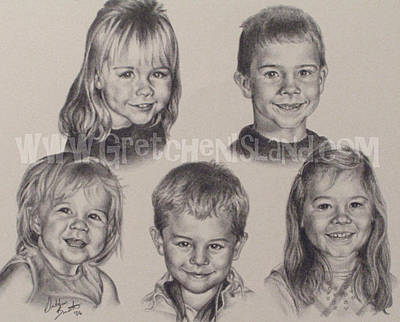 Graduation Gift Drawing - Compton Grandkids by Gretchen Barota