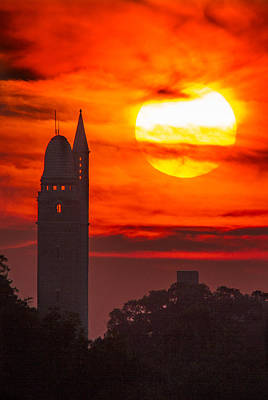 Photograph - Compton Water Tower At Sunset by Garry McMichael