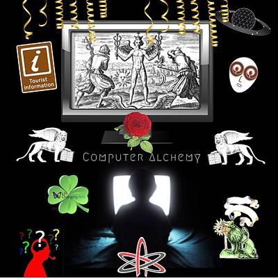 Digital Art - Computer Alchemy by Steven Brier