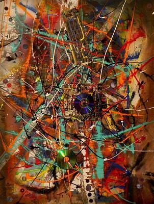 Circuit Painting - Computer Circuits by James Howard