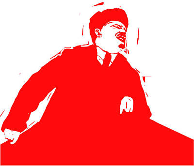 Lenin Digital Art - Comrade L by Rob Prince