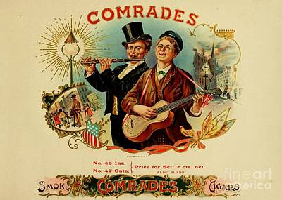 Country Store Drawing - Comrades by Pd