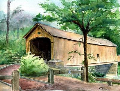 Salmon Painting - Comstock Bridge by Katherine  Berlin