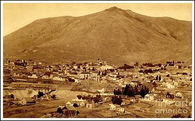 Photograph - Comstock Lode Virginia City Nevada In The 1880s Greatest Precious Metal Find In History by Peter Gumaer Ogden Collection