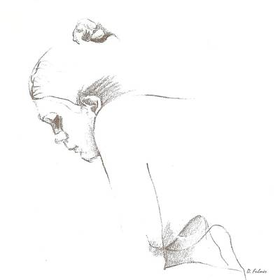 Drawing - Comtemplation by Denise Fulmer