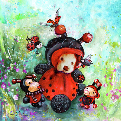 Painting - Comtessine Coccinella De Lafontaine by Miki De Goodaboom