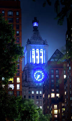 Photograph - Con Edison Clock Tower by Mark Andrew Thomas