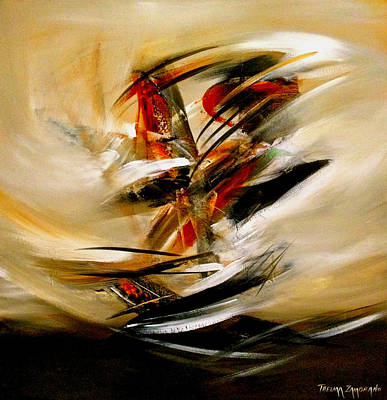 Abstract Painting - Con El Viento En Contra I by Thelma Zambrano