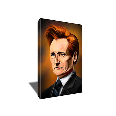 Conan Obrien Painting - Conan O'brien Canvas Art by Artwrench Dotcom