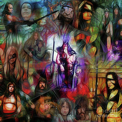 Digital Art - Conan The Barbarian Collage - Square Version by John Beck
