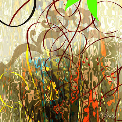 Squiggles Digital Art - Concealed Treasure by Ruth Palmer
