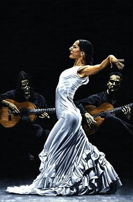 Concentracion Del Funcionamiento Del Flamenco Art Print by Richard Young