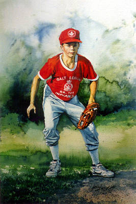 Baseball Art Painting - Concentration by Hanne Lore Koehler