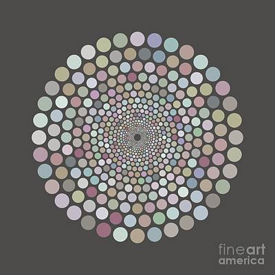 Royalty-Free and Rights-Managed Images - Vortex Circle - Gray by Hailey E Herrera