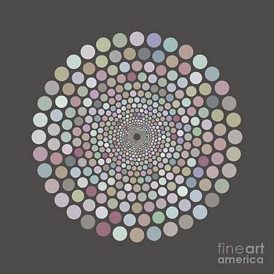 Painting - Vortex Circle - Gray by Hailey E Herrera