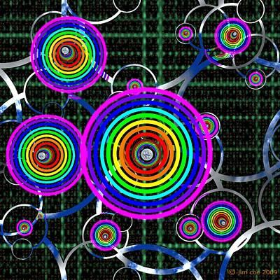 Concentric Color Art Print