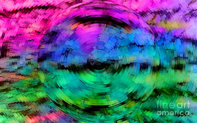 Concentric Vision Print by Krissy Katsimbras