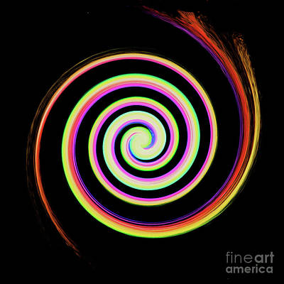 Digital Art - Concentrical Painted Spiral by Merton Allen