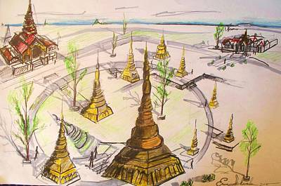 Drawing - Concept Drawing by Eric  Schiabor
