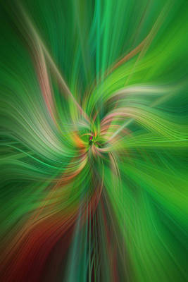 Photograph - Concept Fertile Nature. Green Abstract by Jenny Rainbow