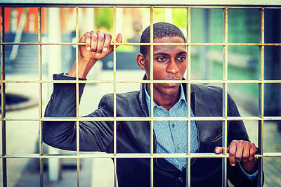 Photograph - Concept Of Young African American Man Looking For Freedom In New by Alexander Image