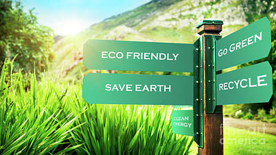 Photograph - Conceptual Photo Of A Saving Earth by Anna Om